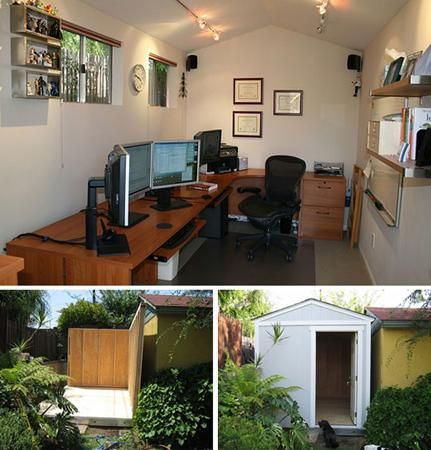 8 Backyard Shed Turned Home Office Inspirations @Craig Norman