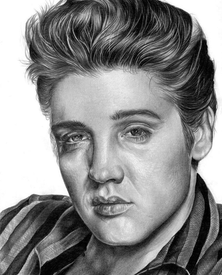 My Drawing Of Elvis King Rock Pencil Selfmade