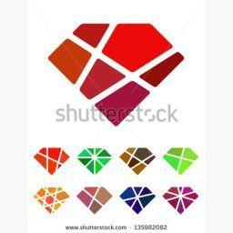 Cf69 Vector Design Diamond Logo Element Crushing Abstract Pattern Colorful Precious Stone Logotype Icons Set 1359 Diamond Logo Art Logo Logo Design Inspiration