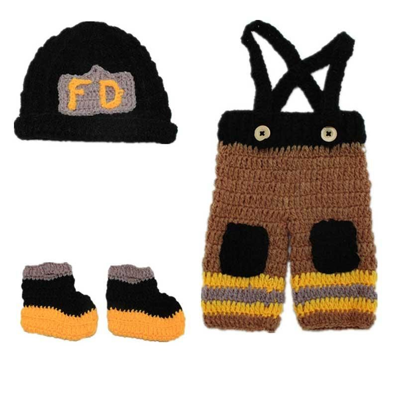 Baby Firefighter Crochet | Crochet Newborn Outfits | Pinterest ...