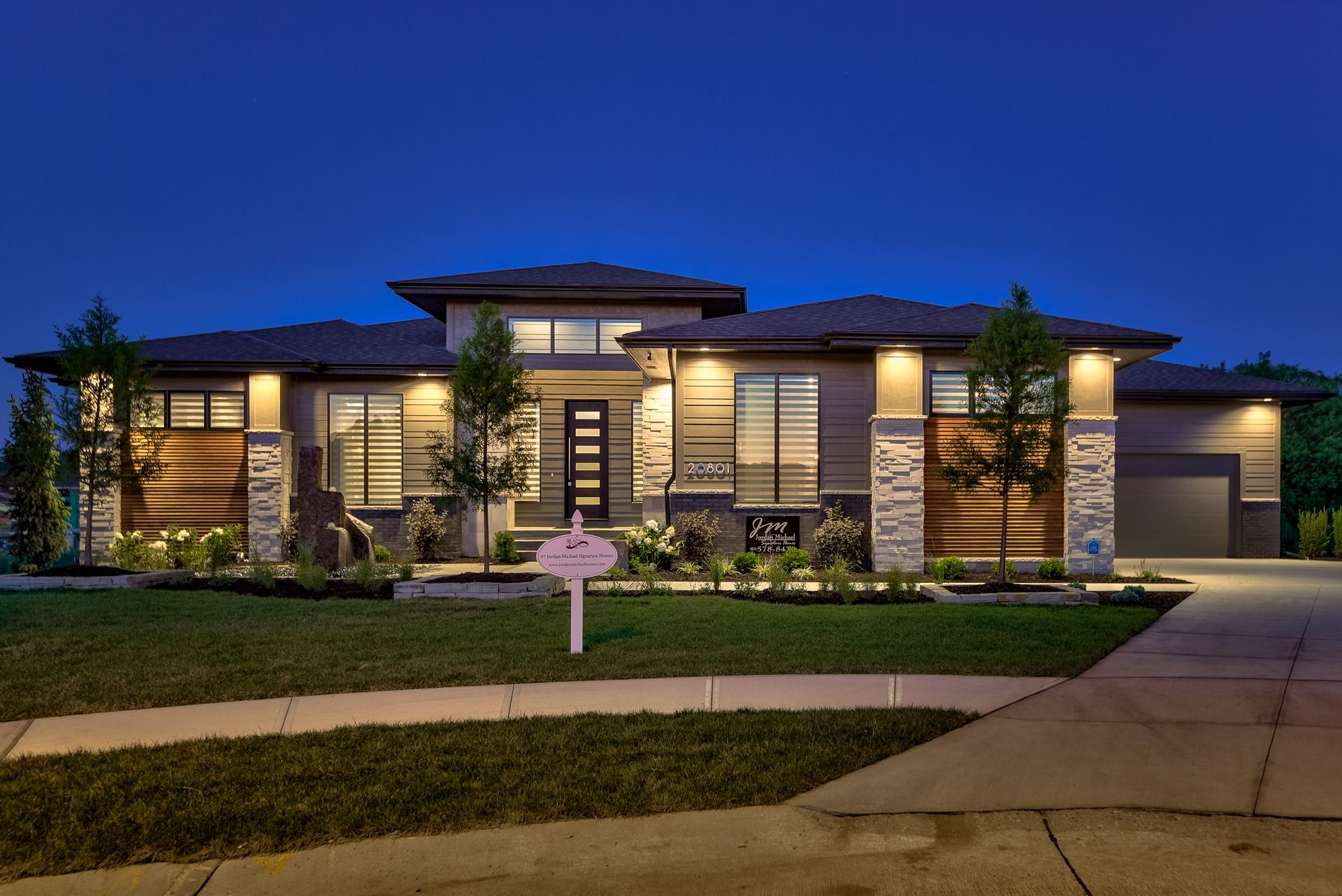 Modern Ranch Plan Designed By Advanced House Plans, Built By Jordan Michael  Signature Homes In