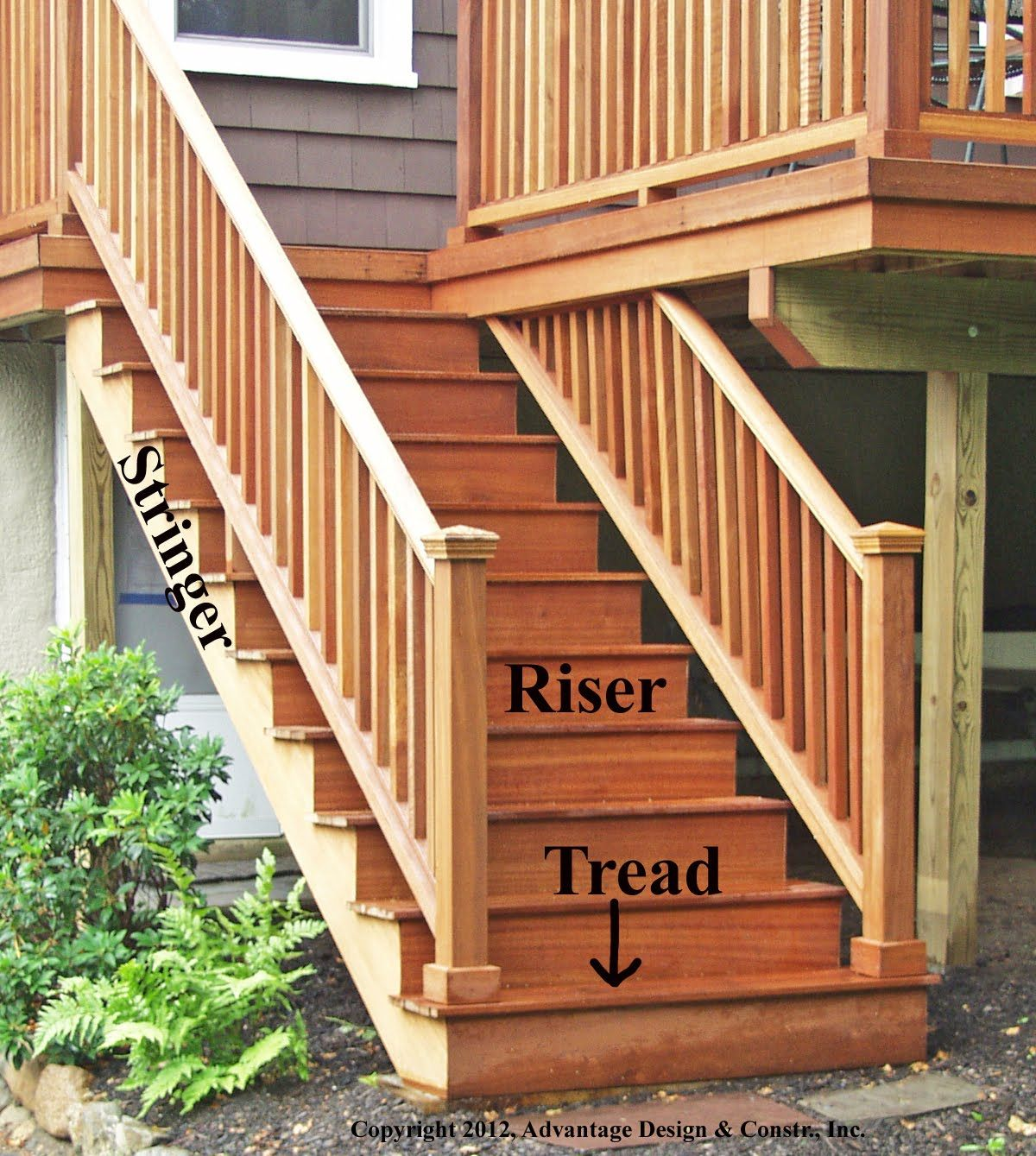 Exterior deck stair railingdeck stair railing construction exterior deck stair railingdeck stair railing construction youtube baanklon Gallery