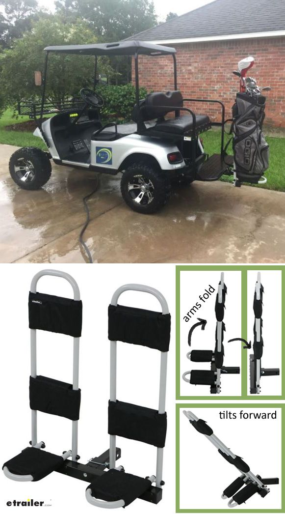 Make Your Golf Buddies Jealous With Your Sweet Course Horse Hitch Mounted Golf Bag Carrier Firmly Holds Two Golf Cargo Carrier Hitch Cargo Carrier Carrier Bag