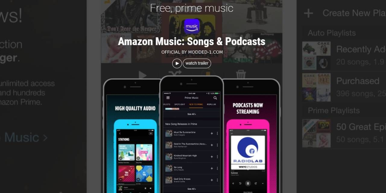 Amazon Music Mod Apk 17 2 4 Unlimited Prime Plus Download Music Amazon Amazon Mobile