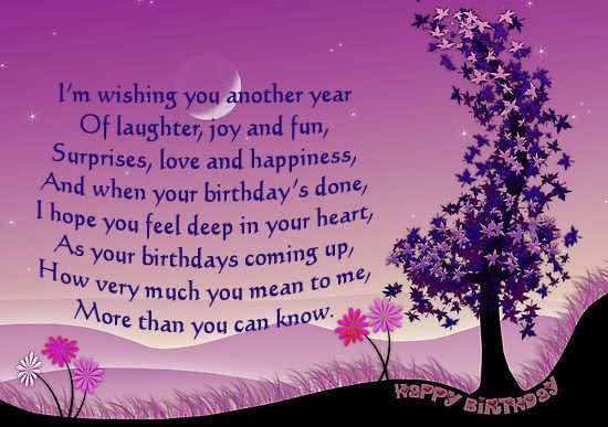 Image Detail For Birthday Card Sayings Poetry Birthday Wishes