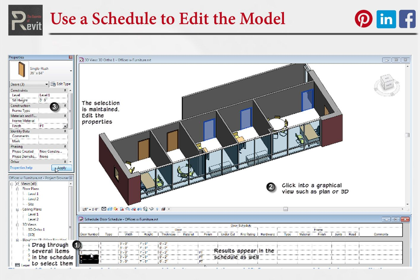 Use A Schedule To Edit The Model In Revit How To Plan Design Model