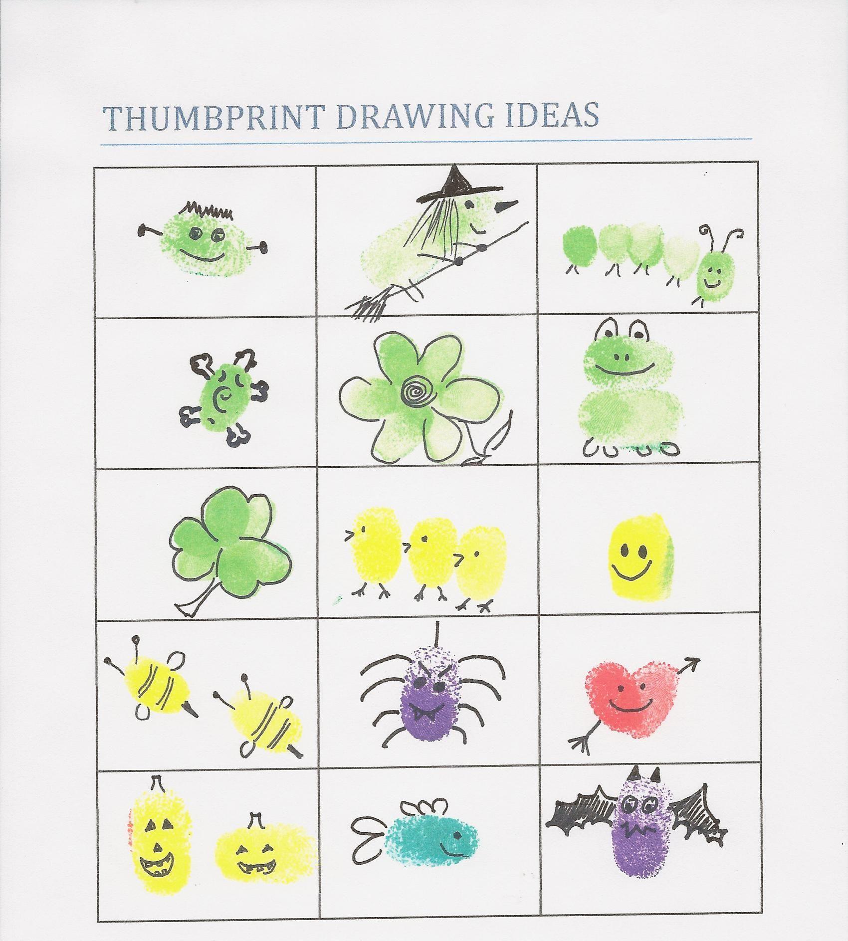 Thumbprint Notepad Craft