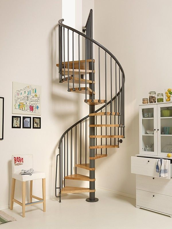 Best Oak 70 Spiral Staircase Made With Solid Natural Oak 400 x 300