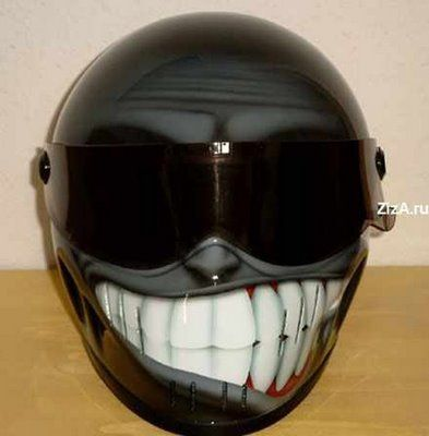how can you not smile at this helmet?