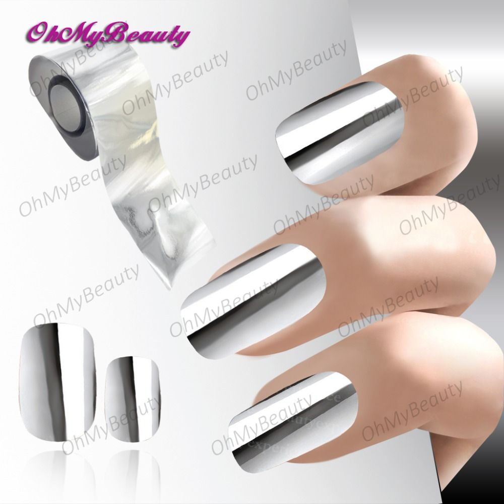Fashion Nail art Sticker Silber Farbe muster Nagel Transferfolie ...