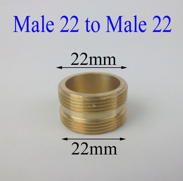 Male 22 to Male 22 brass faucet adapter