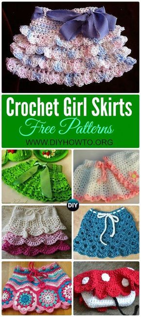 Crochet Girls Skirt Free Patterns Crochet Girls Free Pattern And