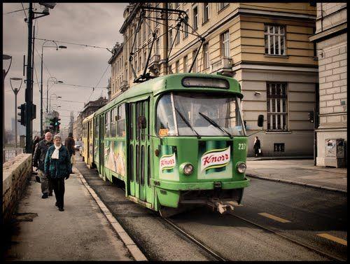 Sarajevo Tramvaj Tatra K2 Line 3 Ilidza Bascarsija Street Cars Sarajevo Public Transport