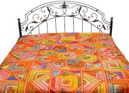 Designer Bed covers. Fabricated from superior quality material such as cotton, satin and velvet, our product is highly reliable in nature and valued by our clients. Keeping in mind the diverse requirements of our valuable clients, we offer our products in various designs, sizes and colors. Our clients can avail these products at the most competent price range.
