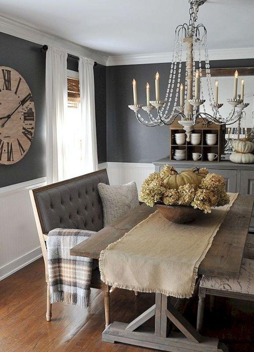 46 Popular Farmhouse Dining Room Design Ideas Trend 2019: Modern Farmhouse Dining Room Decor Ideas (14)