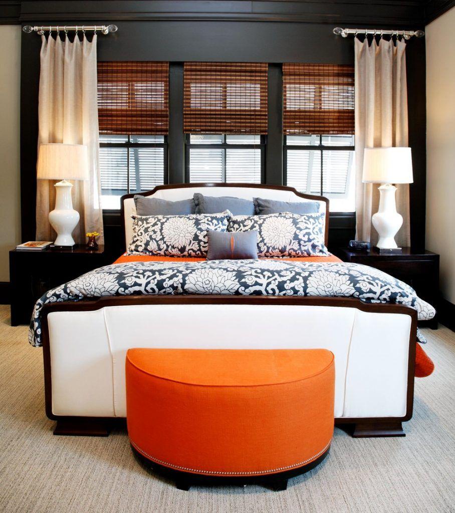 25 Sleek Orange Accents Bedroom Ideas Bedroom Orange Orange