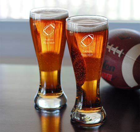 Sports Pilsners Glasses (Set of 2) #theweddingoutlet