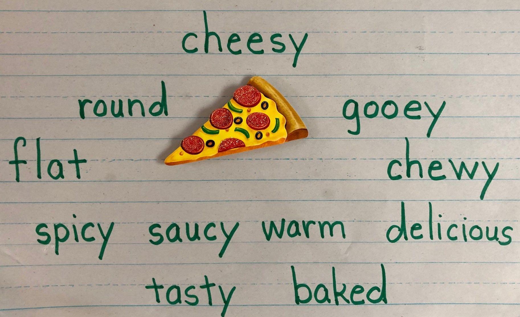 Pizza Adjectives Describing Words Teaching Adjectives Adjectives [ 1113 x 1826 Pixel ]
