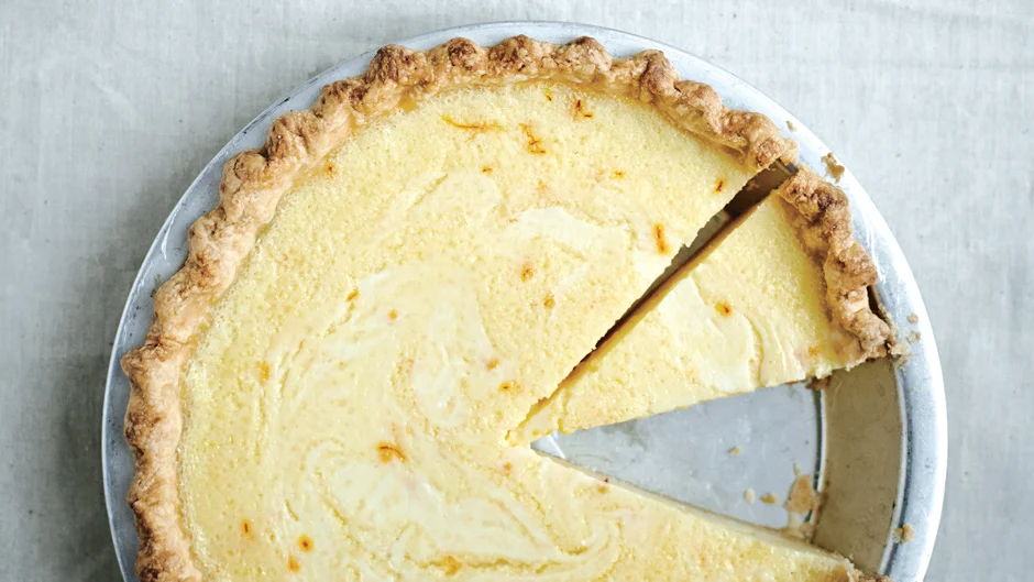 Lemon Buttermilk Pie With Saffron Recipe Recipe In 2020 Sweet Pie Buttermilk Pie Recipe Food Processor Recipes