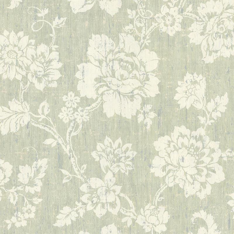 Brewster Wallpaper 672 20050 Giardina Light Green Floral Trail