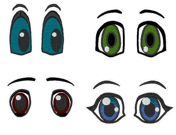 Pretty eyes big set machine embroidery designs and