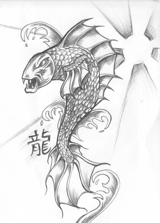 Fantasy koi dragon dragon koi by nocturnal lure on deviantart asian koi dragon - Dessin carpe koi ...