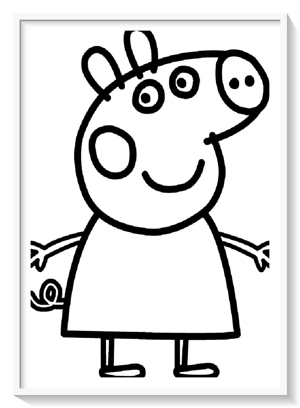Los Mas Lindos Dibujos De Peppa Pig Para Colorear Y Pintar A Todo Color Imagenes Prontas Par Peppa Pig Colouring Peppa Pig Coloring Pages Peppa Pig Printables