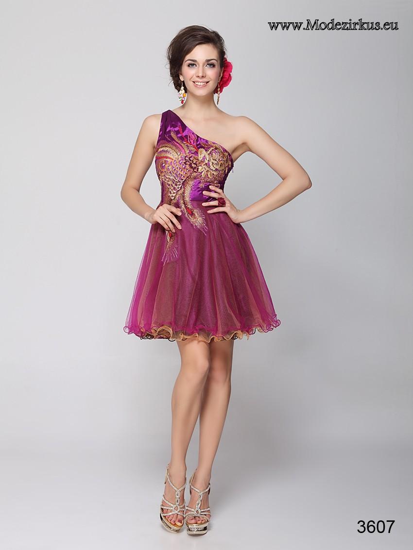 Kurzes Stick Kleid für Hochzeitsgäste mit einem Träger ...