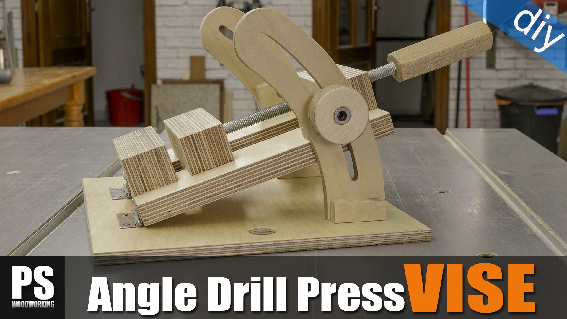 Today I'll make an angle drill press vise that will allow