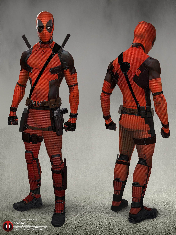 Artstation Deadpool Movie Final Costume Design Joshua James Shaw