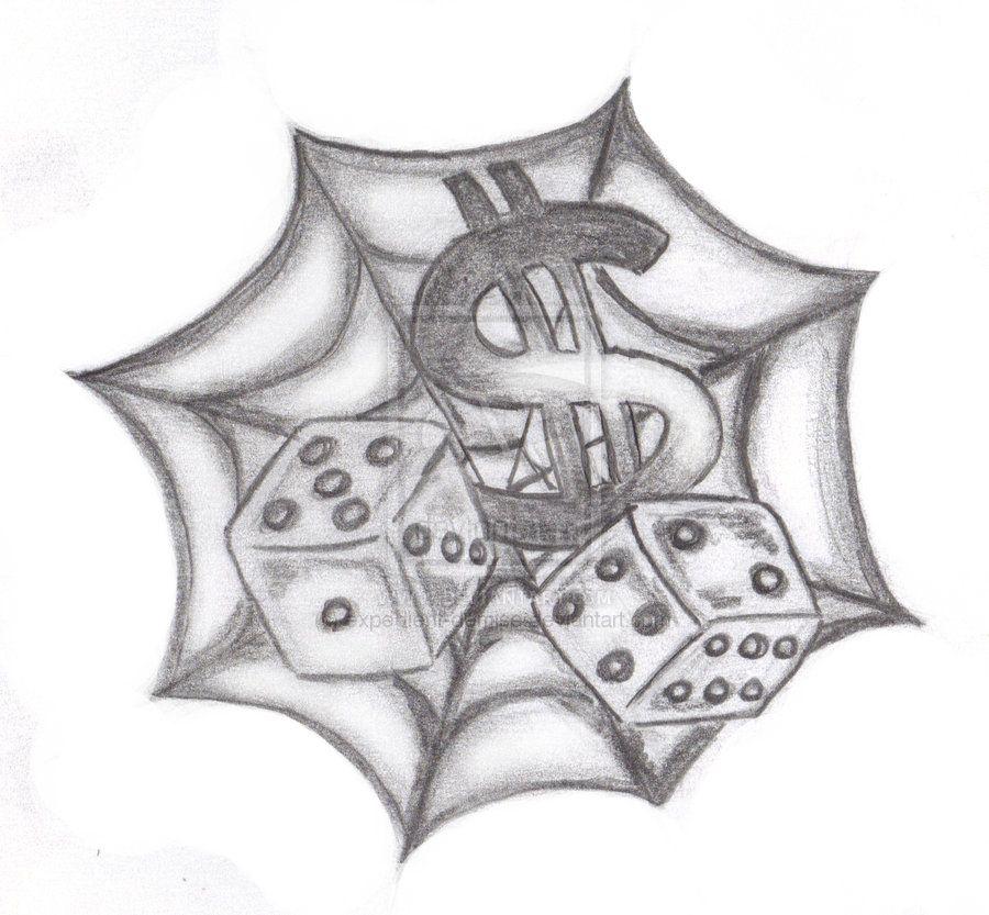 Spider Web N Dice Tattoo Design Dice Tattoo Tattoo Designs Sketch Tattoo Design