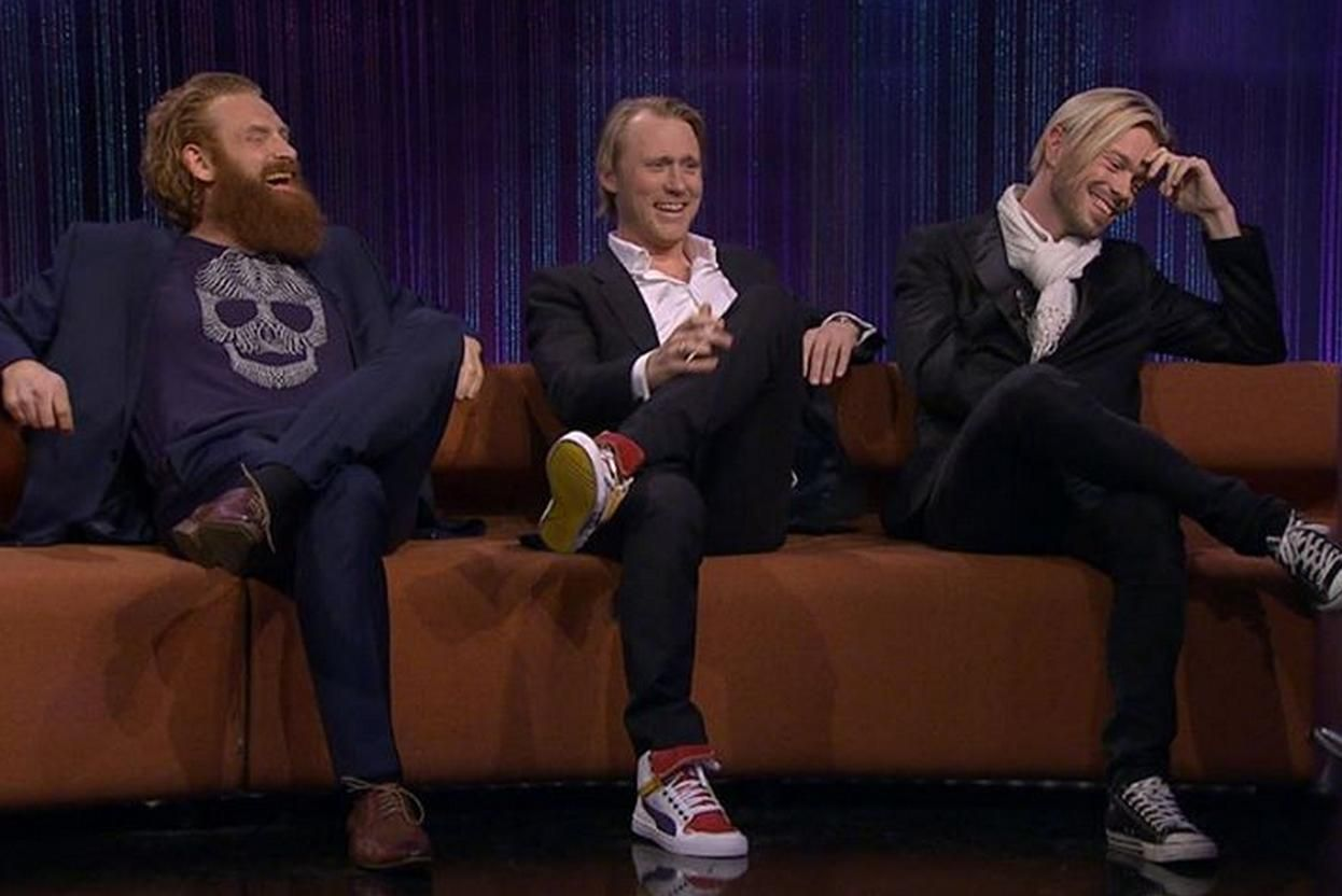 Kristofer Hivju, Thorbjørn Harr og RayKay  «Senkveld» (Late Night) 11.04.14