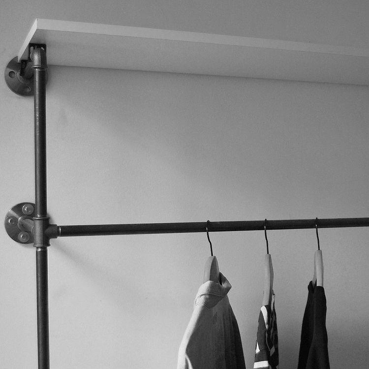 Offener Kleiderschrank   Open wardrobe various Steel Pipe Design - handtuchhalter für küche