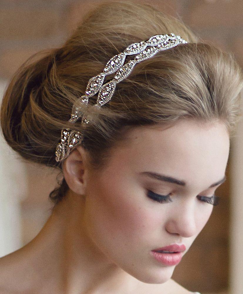Image Of Two Strand Hanne Double Headband Penteado Casamentos Noivas Wedding Hair Style