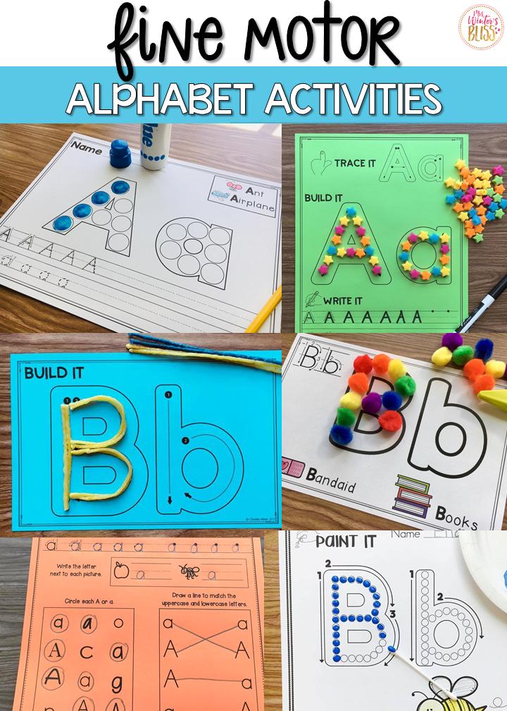 FREE Fine Motor Alphabet Activities | Pinterest | Learning centers ...