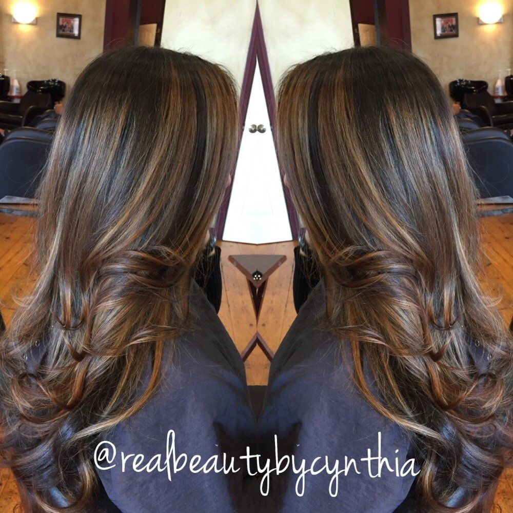Hair By Cynthia Encino Ca United States Face Framing Highlights