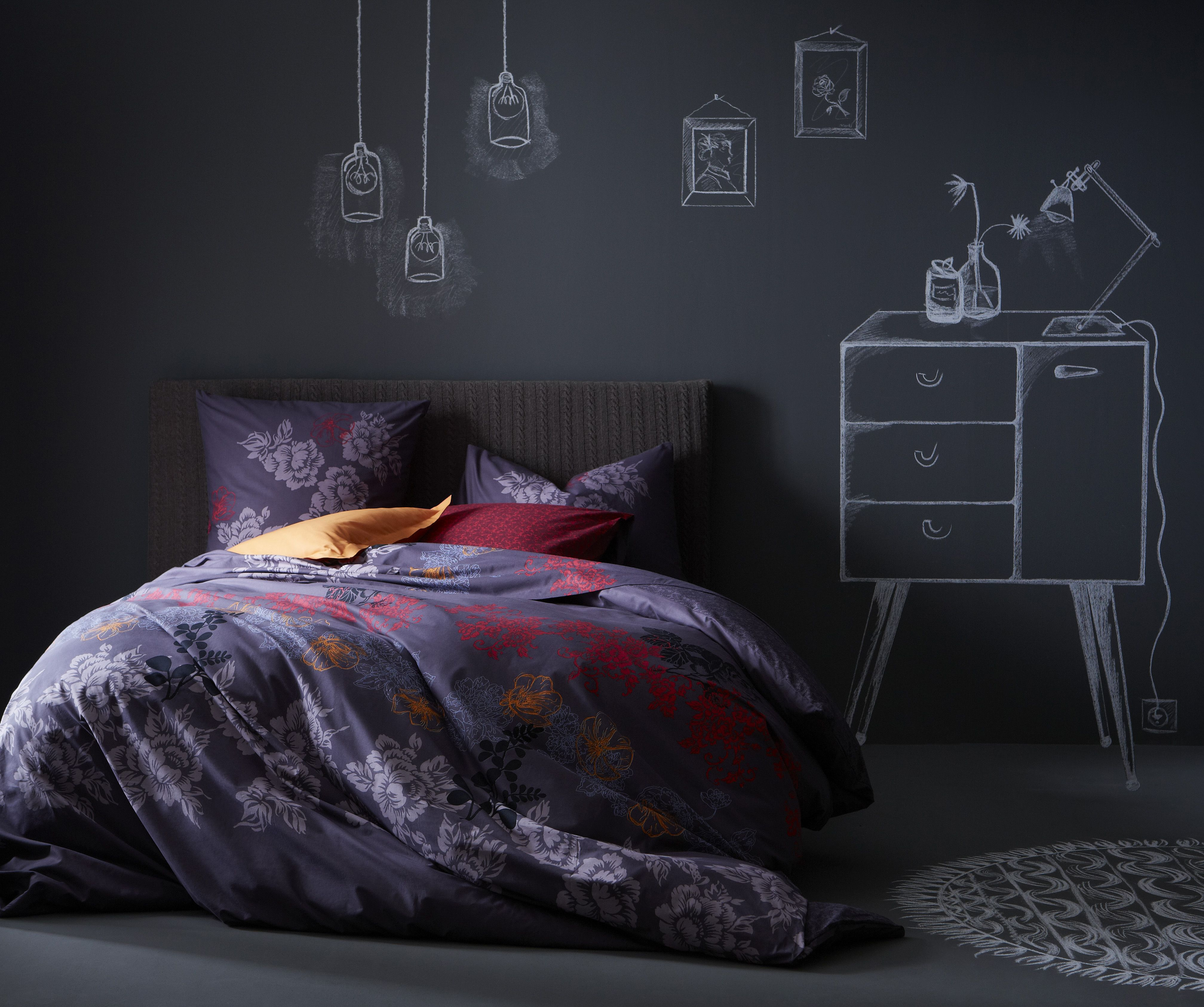 ESSIX HOME COLLECTION - Midnight - 100 % Coton.