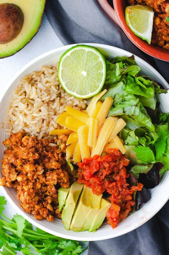 Quick Vegetarian Burrito Bowls images