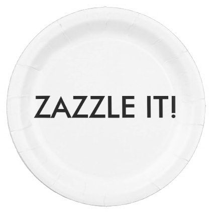 Shop Custom Personalized Paper Plate Blank Template created by GoOnZazzleIt.  sc 1 st  Pinterest & createyourown #customize - #Custom Personalized Paper Plate Blank ...