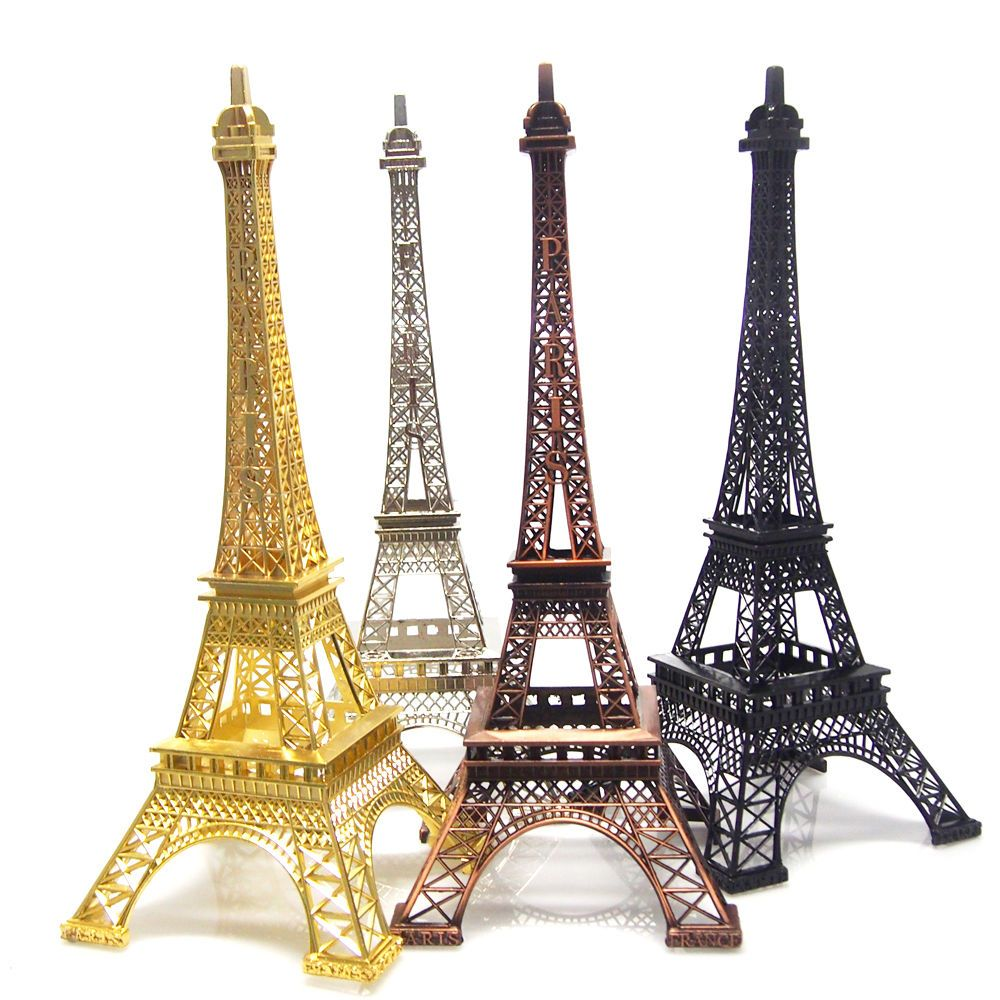 Metal Eiffel Tower Paris France Centerpiece, Bronze, Black, Gold ...