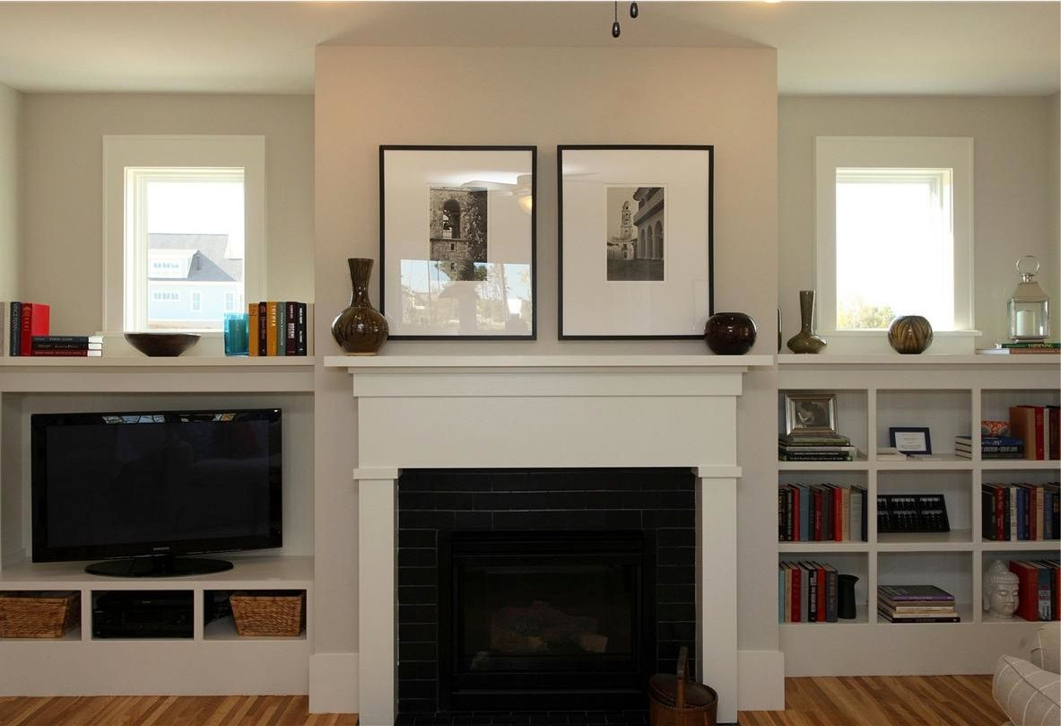craftsman-style fireplace with built-ins that don't have to match ...