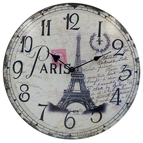 Hippih Silent Round Wall Clocks 12 Inches Living Room D Https Www Amazon Com Dp B017nkyd7a Ref Cm Sw R Pi Paris Room Decor Wall Clock Round Wall Clocks