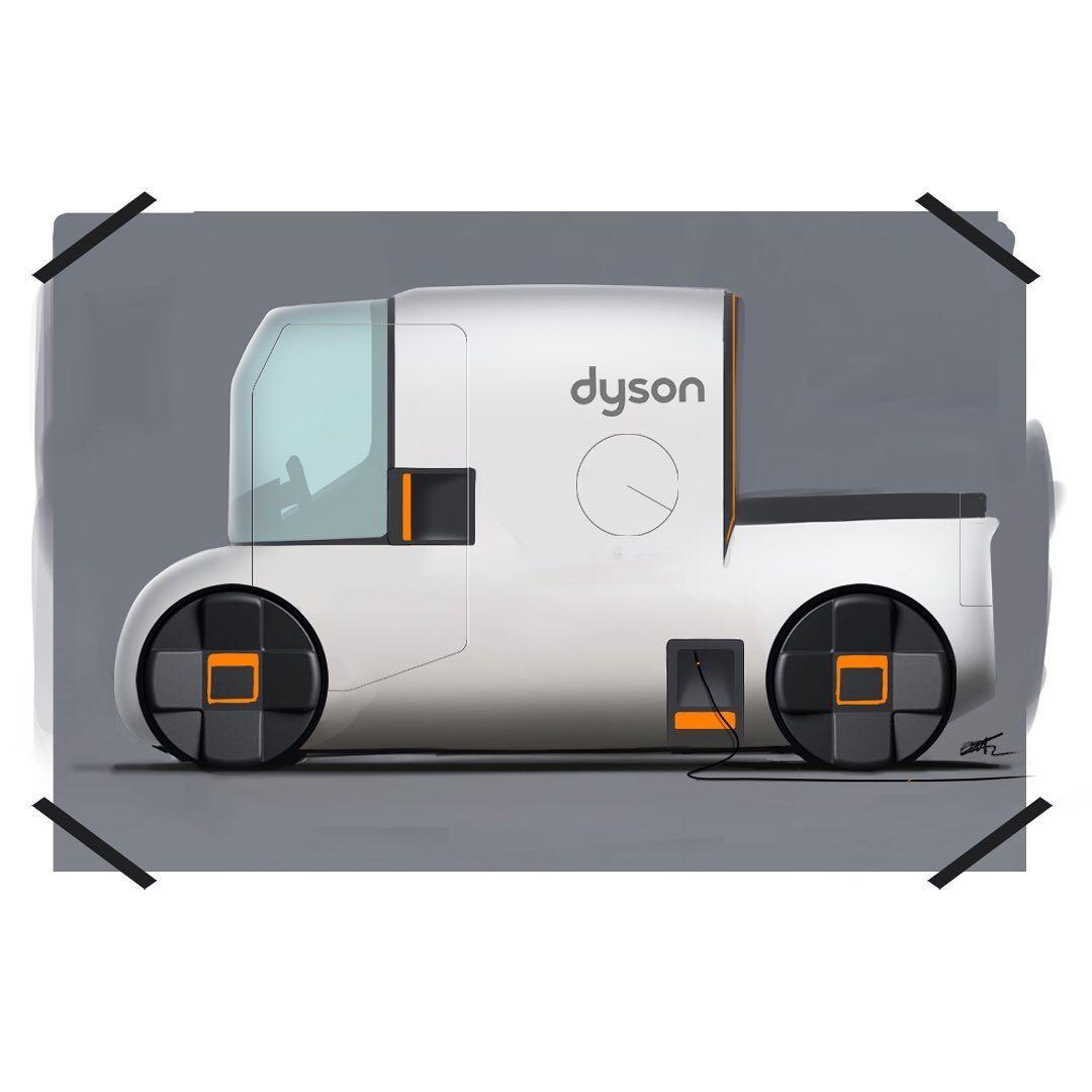 "Elliott Winslow-Thorpe on Instagram: ""Messy dyson pickup van thing 🤷🏼♂️ #cardesigndaily #cardesign #pickup #deliveryvan #carsketch #dyson #sketchbook #sketchaday…"""
