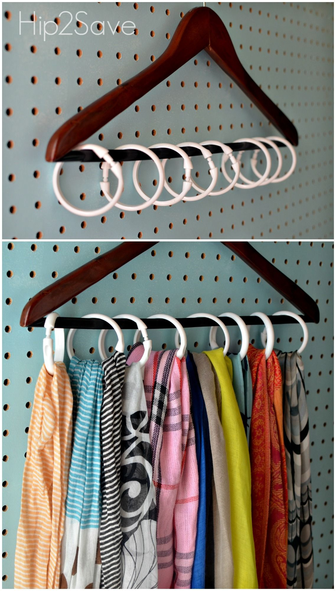 8 Clutter Problems Solved By Shower Rings Closet Organization