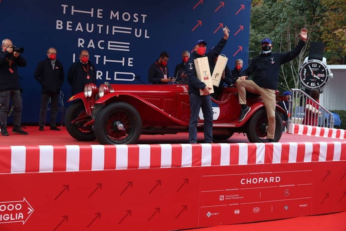 Alfa Romeo 6C 1750 SS Zagato vince la 1000 Miglia 2020