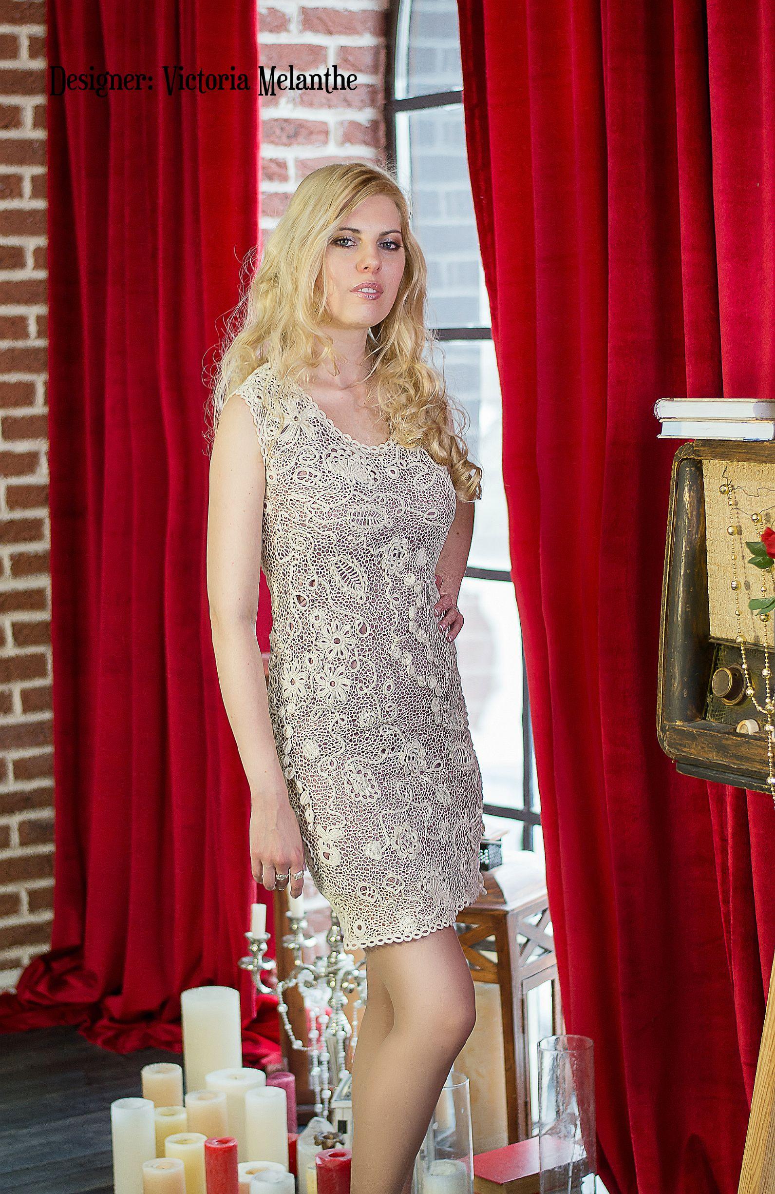Mermaid wedding dress ivory, irish lace, crochet wedding