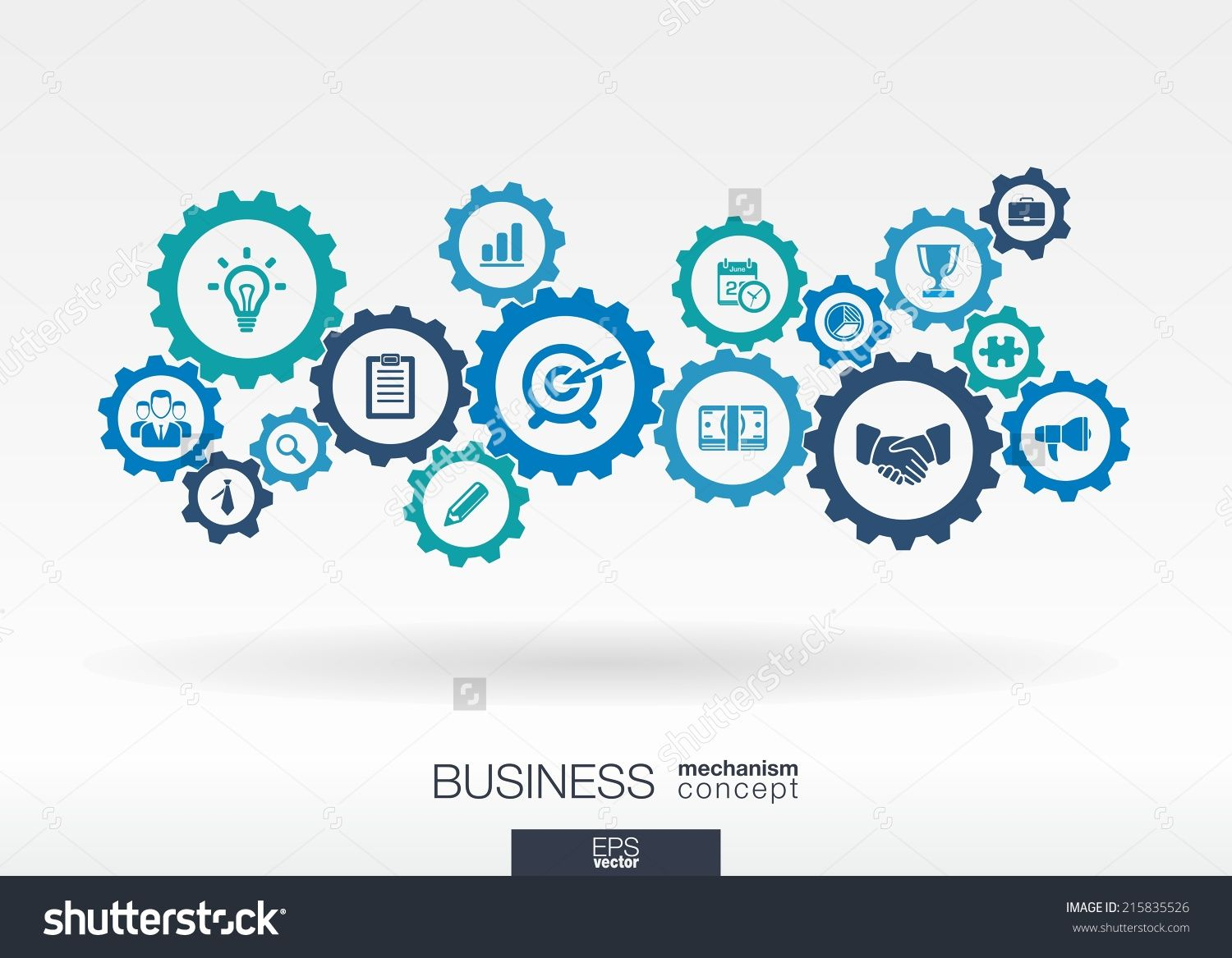 Business Mechanism Concept Abstract Background With Connected