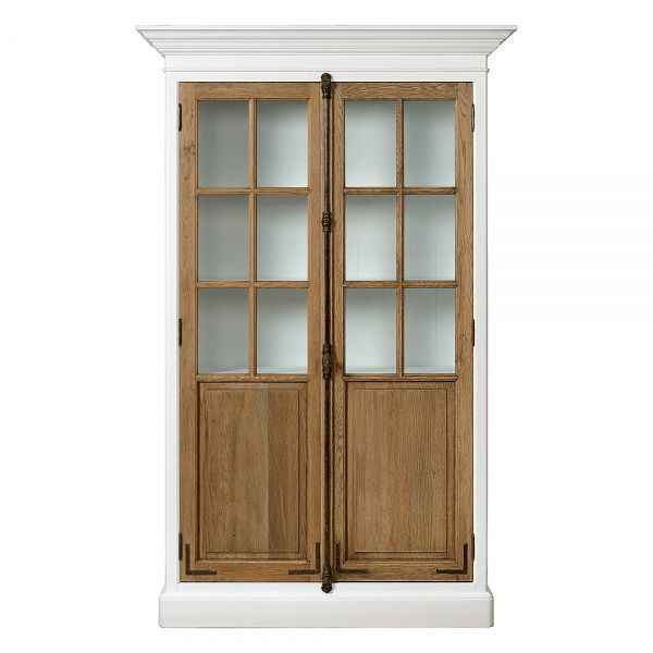 Charrell Home Interiors - CABINET COTE NORD WHITE/ S.O - prachtige vitrinekast in wit en natuurlijk hout