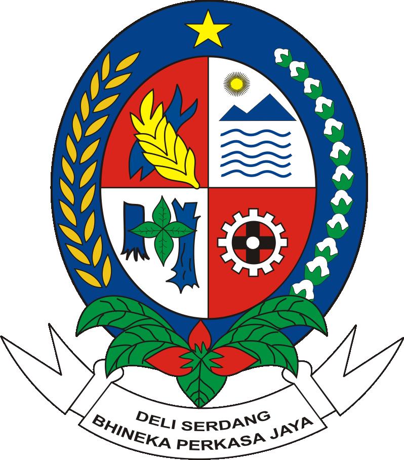 Deli Serdang Indonesia Abstrak Simbol