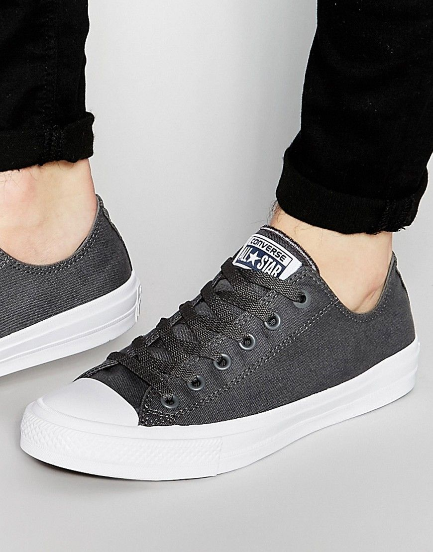 Shop Converse Chuck Taylor All Star II Plimsolls In Grey at ASOS.